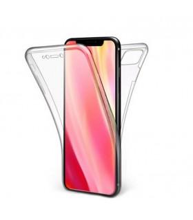 Funda Doble iPhone 11 6.1 Silicona Transparente Delantera y Trasera