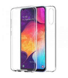 Funda Doble Samsung Galaxy A50 Silicona Transparente Delantera y Trasera