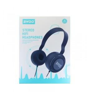 Auricular Cascos Con Micrófono BWOO BX-007 Gris