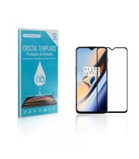 Cristal templado Full Glue 11D Premium OnePlus 6T Protector de Pantalla Curvo Negro