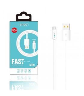 Cable BWOO X5 Longitud 3m 2.4A - MicroUSB