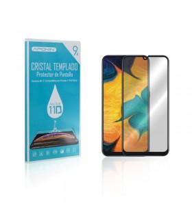 Cristal templado Full Glue 11D Premium Samsung Galaxy A20S Protector de Pantalla Curvo Negro