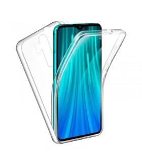 Funda Doble Xiaomi Redmi Note 8 Pro Silicona Transparente Delantera y Trasera