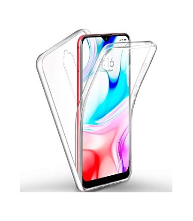 Funda Doble Xiaomi Redmi 8/8A Silicona Transparente Delantera y Trasera