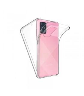 Funda Doble Samsung Galaxy A71 Silicona Transparente Delantera y Trasera