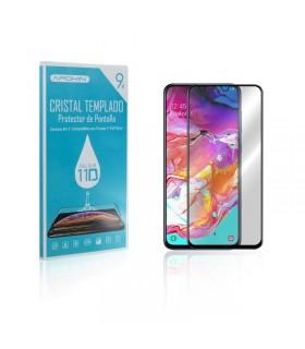 Cristal templado Full Glue 11D Premium Samsung Galaxy A71 Protector de Pantalla Curvo Negro