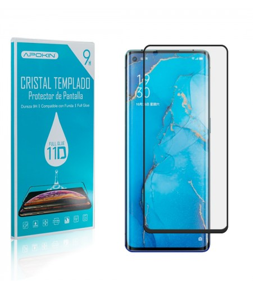 Cristal templado Full Glue 11D Premium Oppo Reno 3 Pro Protector de Pantalla Curvo Negro