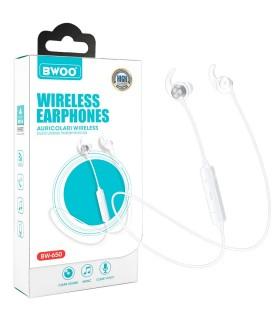 Auricular Cascos Con Micrófono BWOO BW-650 Blanco