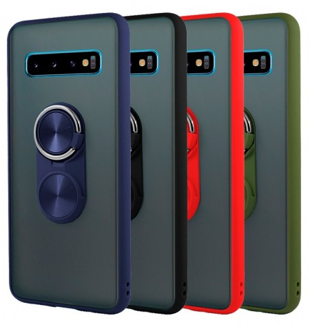 Funda Gel Samsung Galaxy S10 Pop-Case con borde de color - 4 Colores