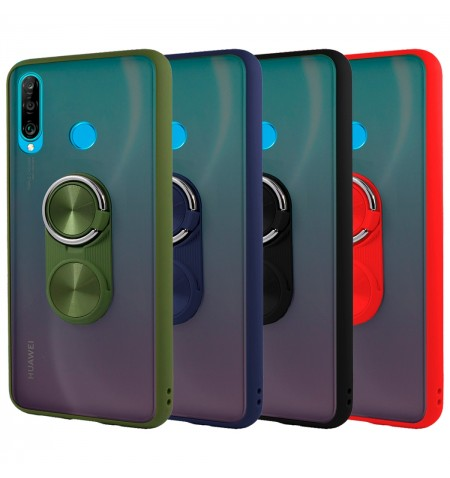 Funda Gel Huawei P30 Lite Pop-Case con borde de color - 4 Colores
