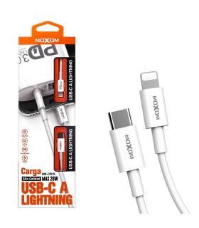 Cable Moxom CB-19 de Carga Rápida 28W - Lightning a TipoC