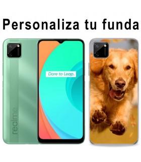 Personaliza tu funda Realme C11 de Silicona Flexible Transparente Carcasa Case Cover de Gel TPU para Smartphone