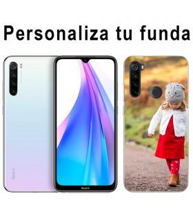 Personaliza tu funda Xiaomi Redmi Note 8T de Silicona Flexible Transparente Carcasa Case Cover de Gel TPU para Smartphone