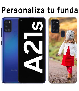 Personaliza tu funda Samsung Galaxy A21S de Silicona Flexible Transparente Carcasa Case Cover de Gel TPU para Smartphone