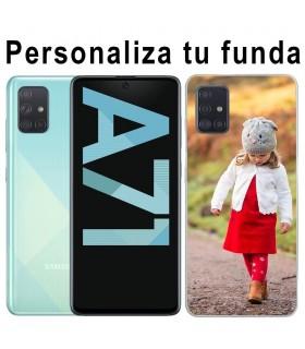 Personaliza tu funda Samsung Galaxy A71 de Silicona Flexible Transparente Carcasa Case Cover de Gel TPU para Smartphone