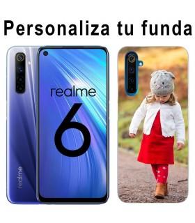 Personaliza tu Funda Realme 6 de Silicona Flexible Transparente Carcasa Case Cover de Gel TPU para Smartphone