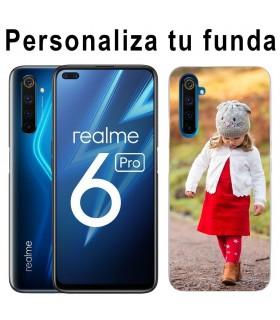 Personaliza tu Funda Realme 6 Pro de Silicona Flexible Transparente Carcasa Case Cover de Gel TPU para Smartphone