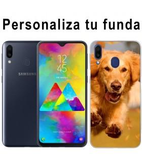 Personaliza tu funda Samsung Galaxy M20 de Silicona Flexible Transparente Carcasa Case Cover de Gel TPU para Smartphone