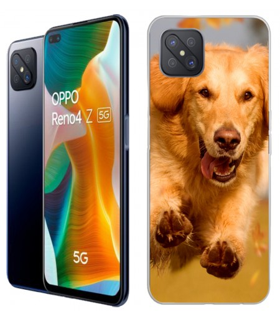 Personaliza tu Funda [OPPO Reno 4Z 5G] de Silicona Flexible Transparente Carcasa Case Cover de Gel TPU para Smartphone