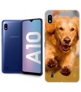 Personaliza tu funda Samsung Galaxy A10 de Silicona Flexible Transparente Carcasa Case Cover de Gel TPU para Smartphone
