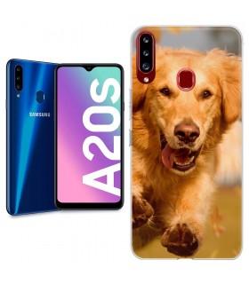 Personaliza tu Funda [Samsung Galaxy A20s] de Silicona Flexible Transparente Carcasa Case Cover de Gel TPU para Smartphone