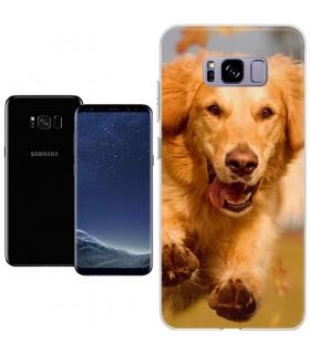 Personaliza tu Funda [Samsung Galaxy S8 Plus] de Silicona Flexible Transparente Carcasa Case Cover de Gel TPU para Smartphone