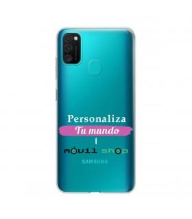 Personaliza tu funda Samsung Galaxy M21 de Silicona Flexible Transparente Carcasa Case Cover de Gel TPU para Smartphone
