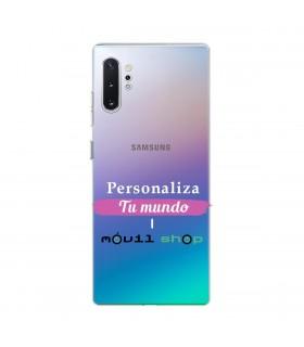 Personaliza tu funda Samsung Galaxy Note 10 Plus de Silicona Flexible Transparente Carcasa Case Cover de Gel TPU para Smartphone