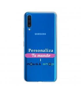 Personaliza tu funda Samsung Galaxy A50 de Silicona Flexible Transparente Carcasa Case Cover de Gel TPU para Smartphone