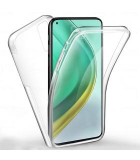Funda Doble Xiaomi Mi 10T Silicona Transparente Delantera y Trasera
