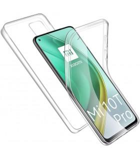 Funda Doble Xiaomi Mi 10T Pro Silicona Transparente Delantera y Trasera