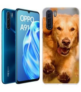 Personaliza tu Funda [OPPO A91] de Silicona Flexible Transparente Carcasa Case Cover de Gel TPU para Smartphone