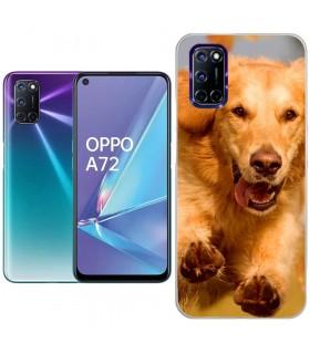 Personaliza tu Funda [OPPO A72] de Silicona Flexible Transparente Carcasa Case Cover de Gel TPU para Smartphone
