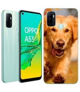 Personaliza tu Funda [OPPO A53s] de Silicona Flexible Transparente Carcasa Case Cover de Gel TPU para Smartphone