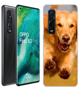 Personaliza tu Funda [OPPO Find X2 Pro] de Silicona Flexible Transparente Carcasa Case Cover de Gel TPU para Smartphone