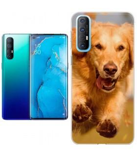 Personaliza tu Funda [OPPO Reno 3 Pro] de Silicona Flexible Transparente Carcasa Case Cover de Gel TPU para Smartphone