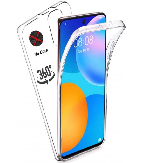 Funda Doble Huawei P Smart 2021 Silicona Transparente Delantera y Trasera