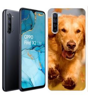 Personaliza tu Funda [OPPO Find X2 Lite] de Silicona Flexible Transparente Carcasa Case Cover de Gel TPU para Smartphone
