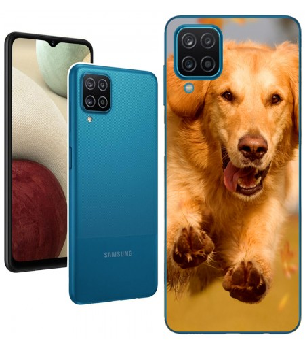 Personaliza tu Funda [Samsung Galaxy A12] de Silicona Flexible Transparente Carcasa Case Cover de Gel TPU para Smartphone