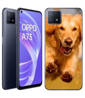 Personaliza tu Funda [OPPO A73 5G] de Silicona Flexible Transparente Carcasa Case Cover de Gel TPU para Smartphone