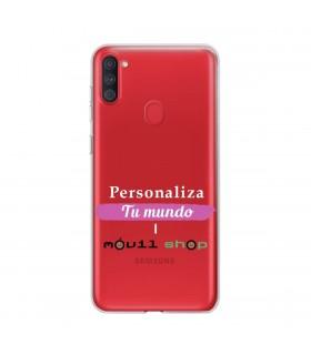 Personaliza tu Funda [Samsung Galaxy M11] de Silicona Flexible Transparente Carcasa Case Cover de Gel TPU para Smartphone
