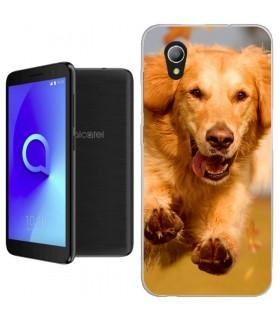 Personaliza tu Funda [Alcatel 1] de Silicona Flexible Transparente Carcasa Case Cover de Gel TPU para Smartphone