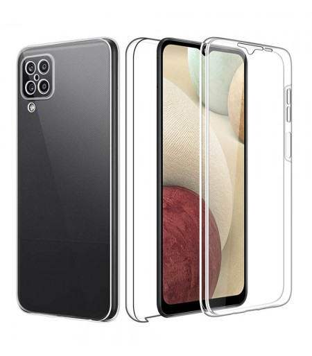 Funda 360 [Samsung Galaxy A12] PC + TPU Carcasa Doble Cara 360 de Silicona Delantera + Trasera Rigido Reforzada Transparente
