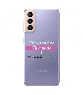 Personaliza tu Funda [Samsung Galaxy S21] de Silicona Flexible Transparente Carcasa Case Cover de Gel TPU para Smartphone