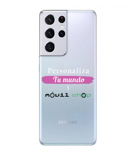 Personaliza tu Funda [Samsung Galaxy S21 Plus] de Silicona Flexible Transparente Carcasa Case Cover de Gel TPU para Smartphone
