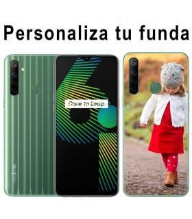 Personaliza tu Funda Realme 6i de Silicona Flexible Transparente Carcasa Case Cover de Gel TPU para Smartphone
