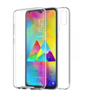 Funda Doble Samsung Galaxy M10 Silicona Transparente Delantera y Trasera