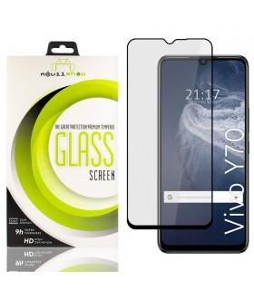 Cristal templado Full Glue 11D Premium Vivo Y70 Protector de Pantalla Curvo Negro