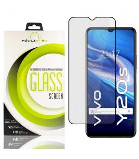 Cristal templado Full Glue 11D Premium Vivo Y20s Protector de Pantalla Curvo Negro