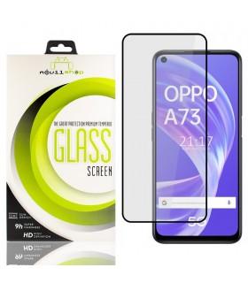 Cristal templado Full Glue 11D Premium OPPO A73 5G Protector de Pantalla Curvo Negro
